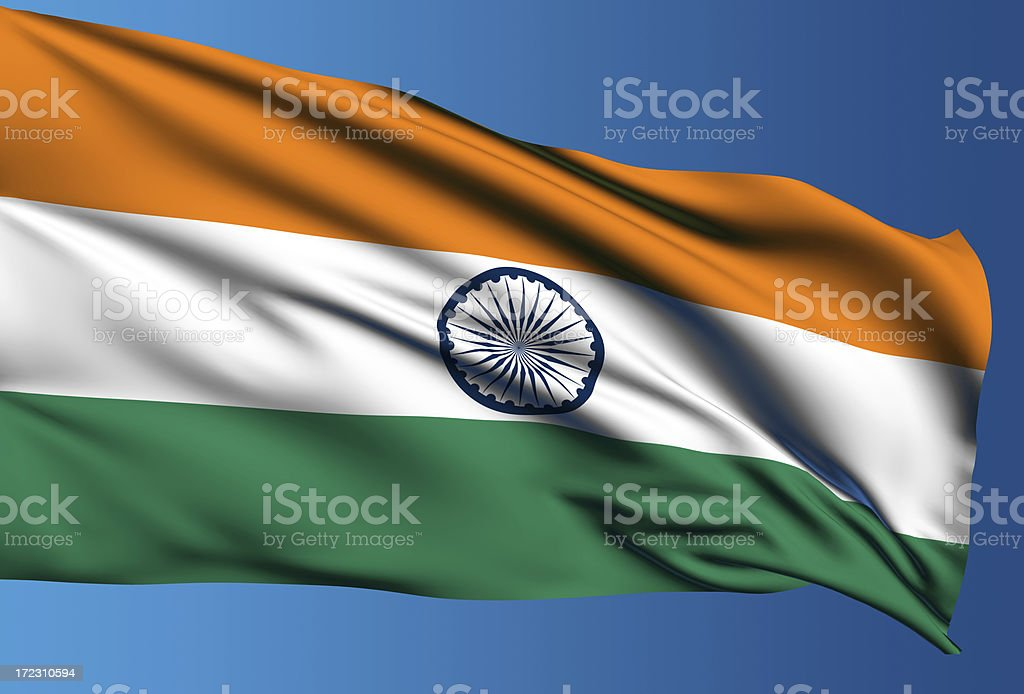 Indian flag with clipping path royalty-free stock photo
