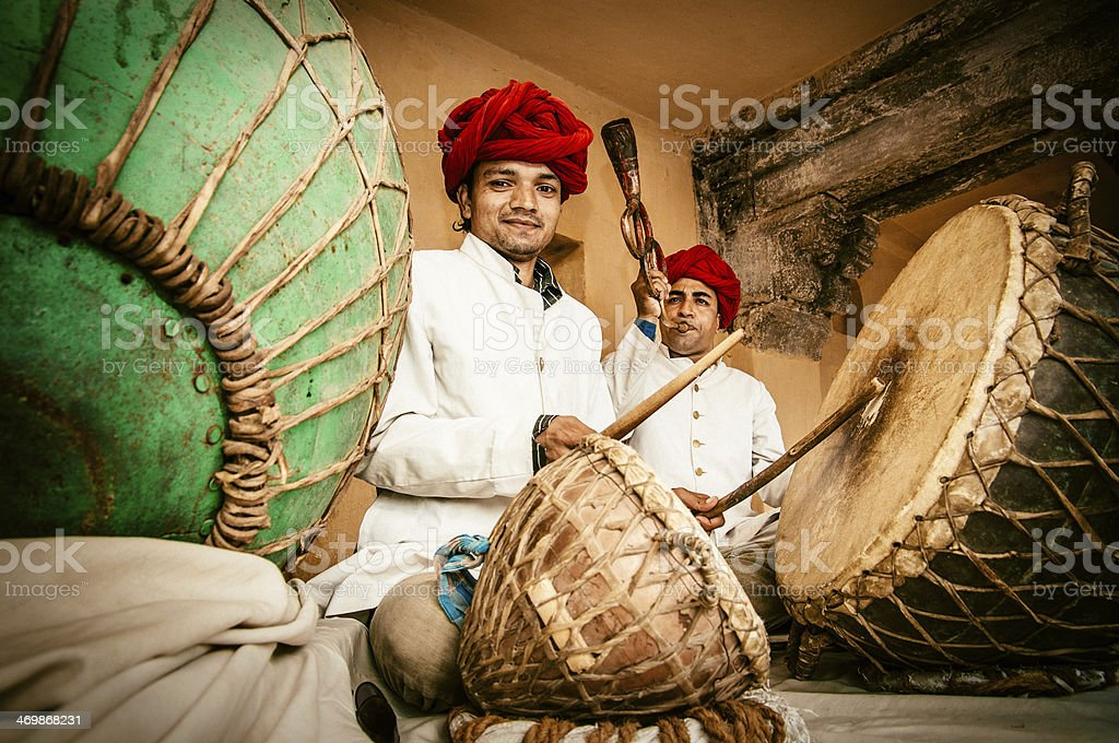 Indian Folk Music stock photo