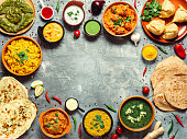istock Indian food and indian cuisine dishes, copy space 1151785607