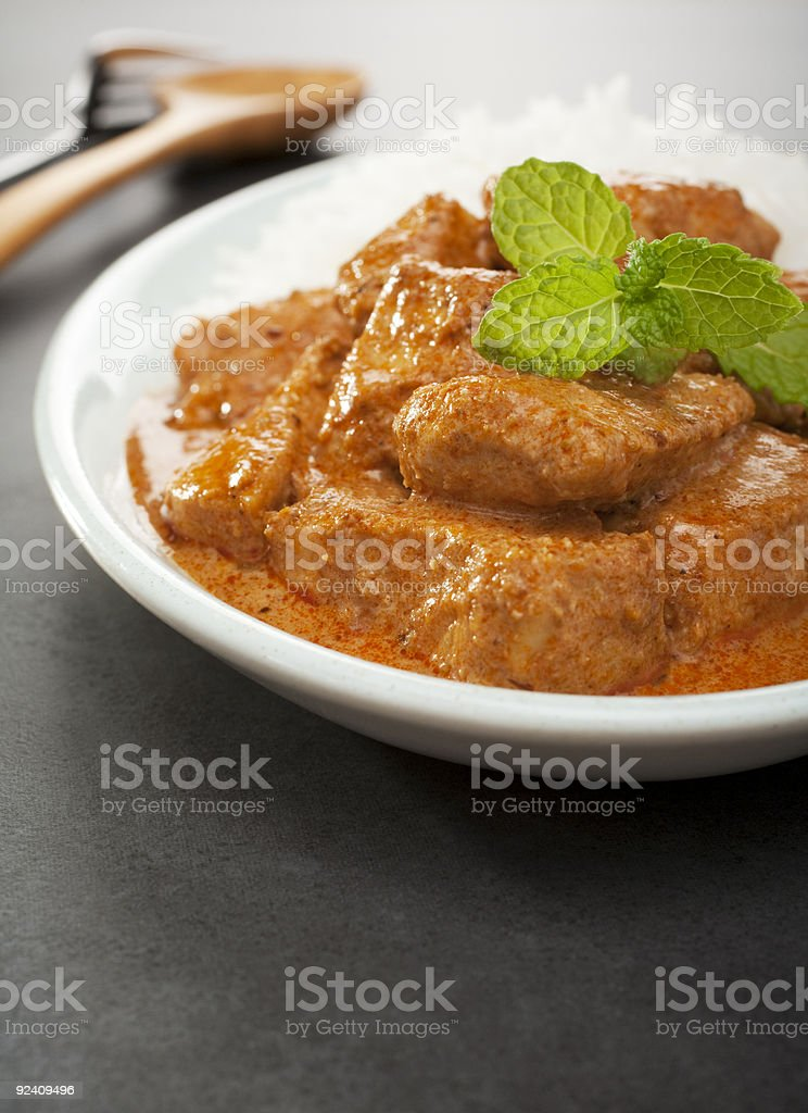 Indian Food Butter Chicken Curry Meal stock photo