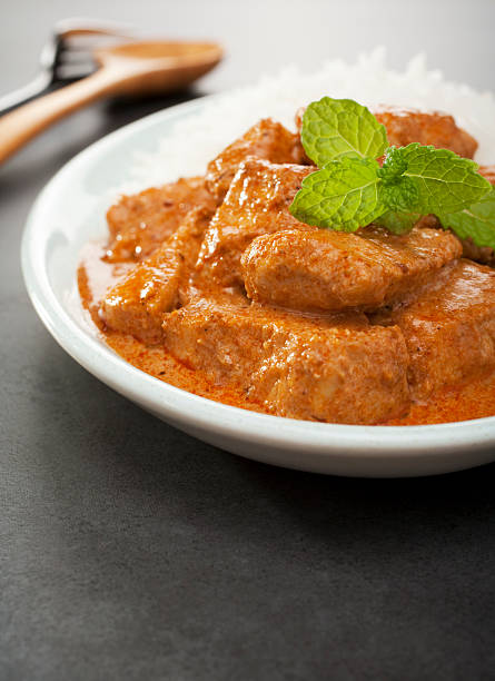 Indian Food Butter Chicken Curry Meal  butter chicken stock pictures, royalty-free photos & images