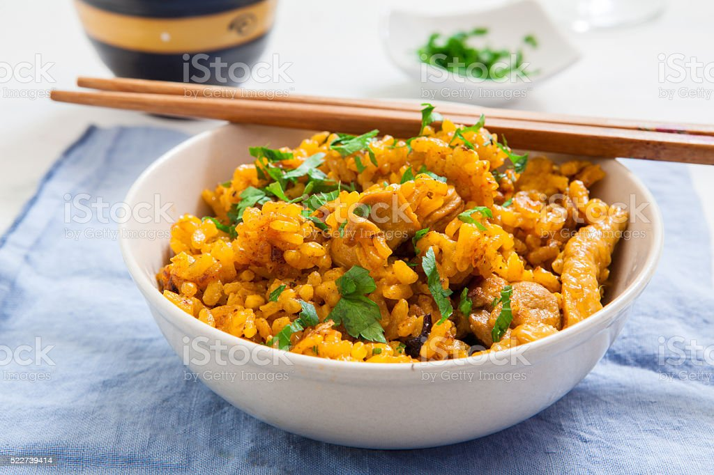 Indian food on bowl stock photo