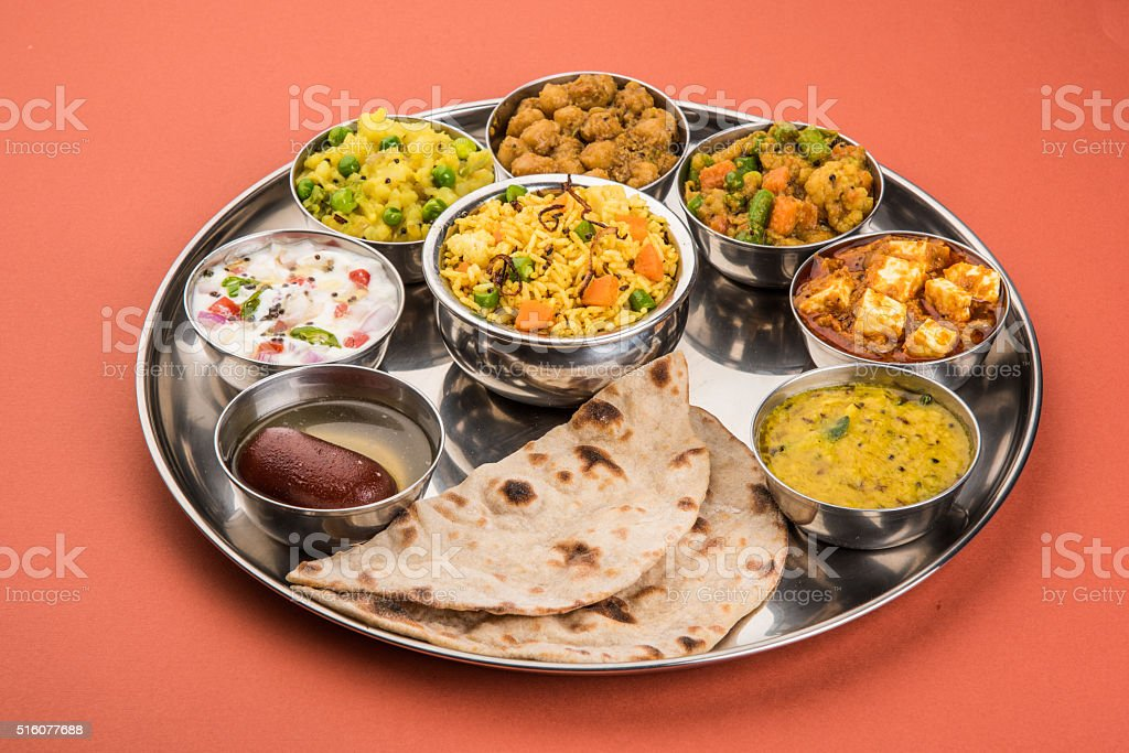 Indian Food Platter Or Indian Thali South Indian Thali Stock Photo Download Image Now Istock