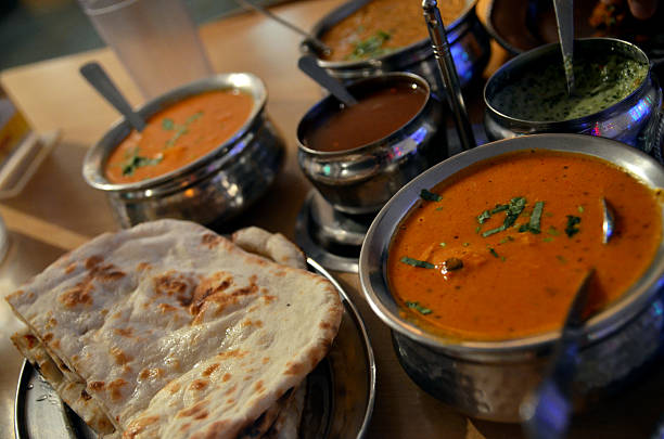 Indian food - restaurant Indian food - restaurant butter chicken stock pictures, royalty-free photos & images