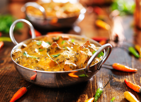 Indian Food Saag Paneer Curry Dish Stock Photo - Download Image Now