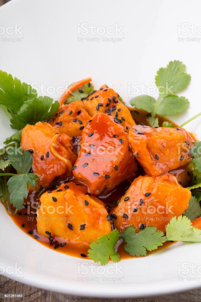 Indian food salad stock photo