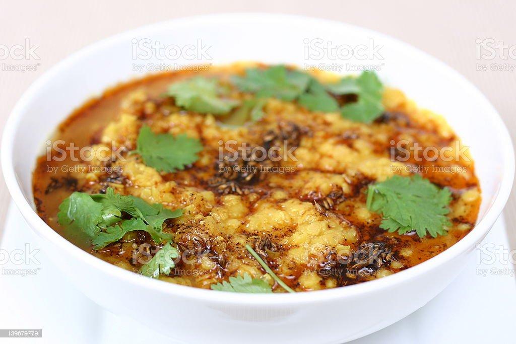 Indian Food Series - Lentil Soup (Dal) stock photo