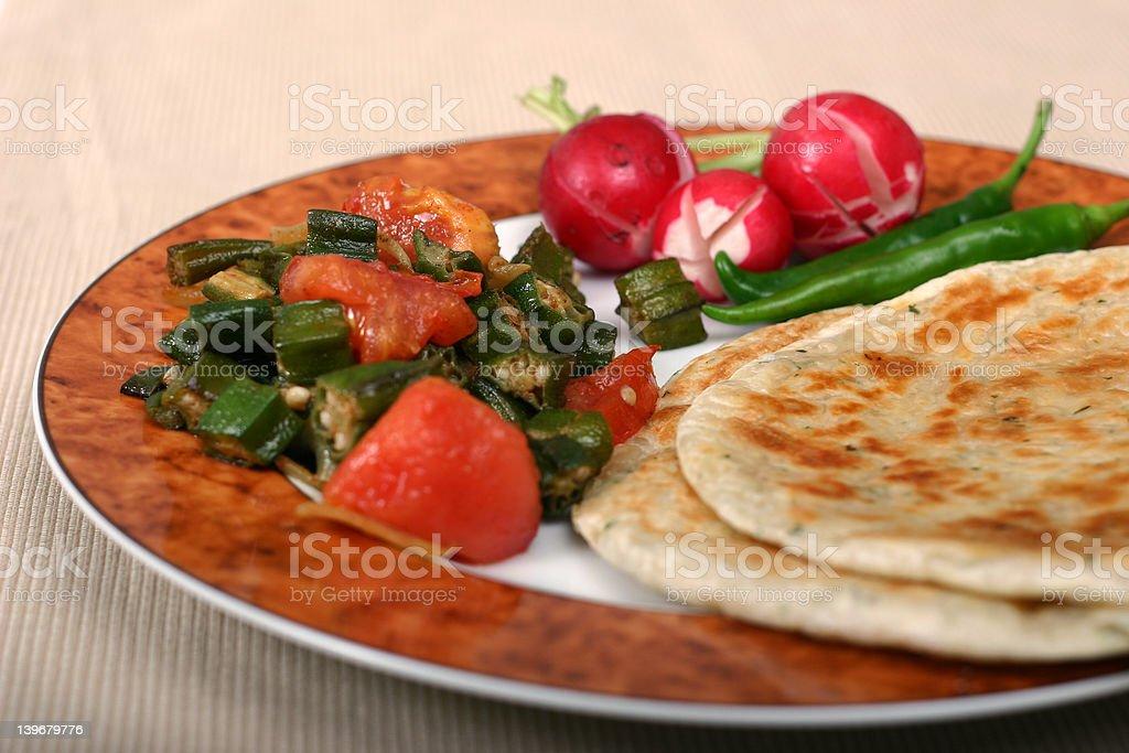 Indian Food Series - Vegetarian Meal stock photo