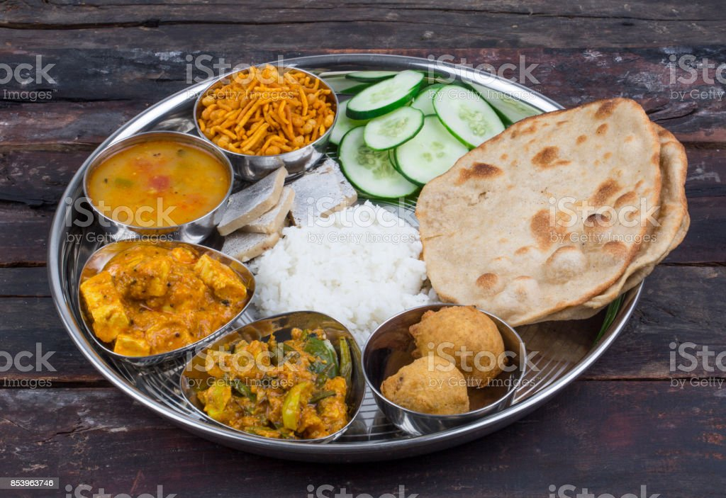 Indian food Thali stock photo