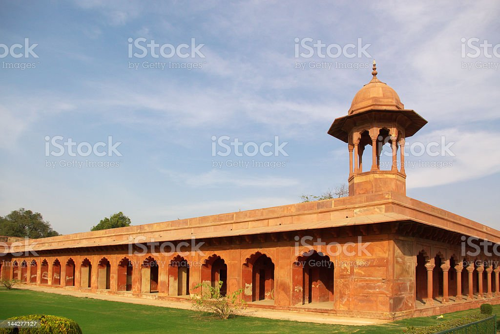 indian fortress walls royalty-free stock photo