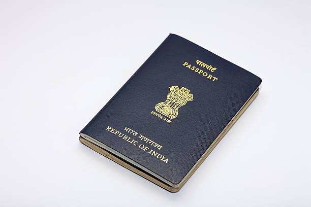 Indian Vielflieger-passport auf weißem Hintergrund – Foto