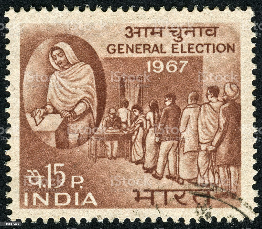 Indian General Election Stamp royalty-free stock photo