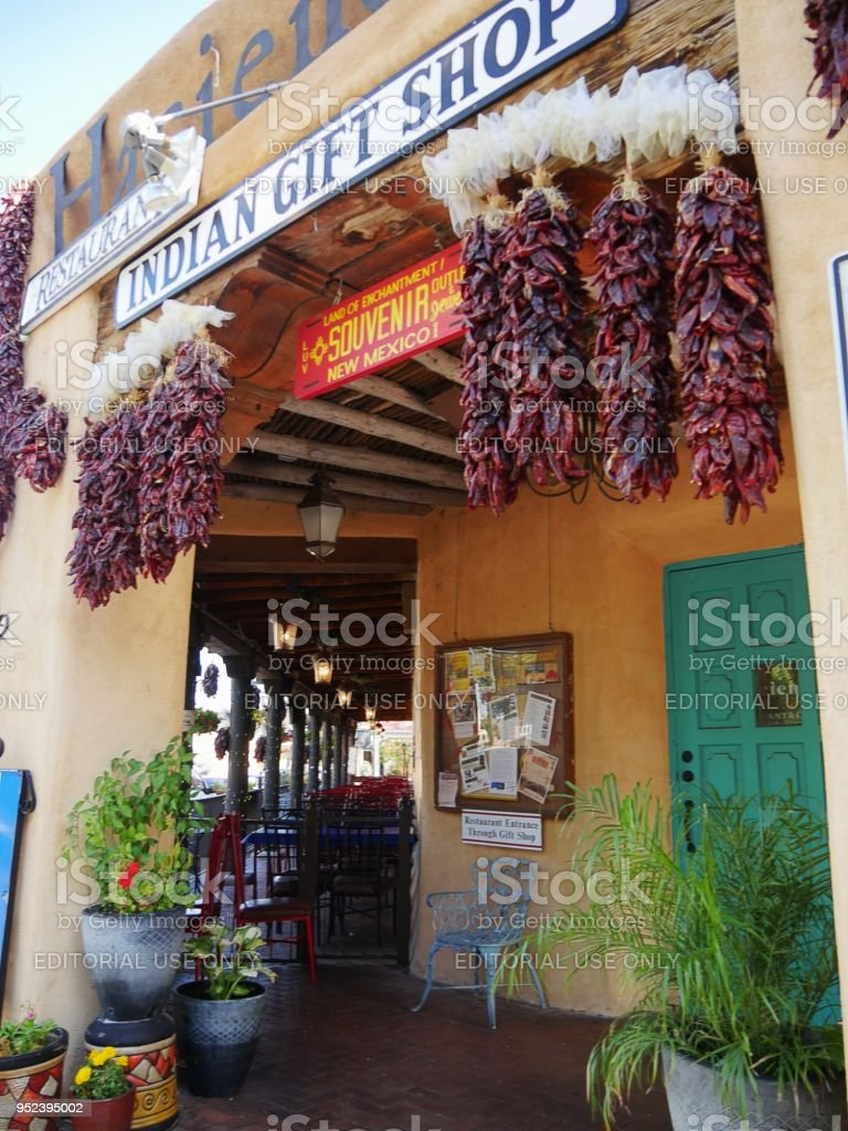 Indian gift shop and restaurant in Albuquerque stock photo