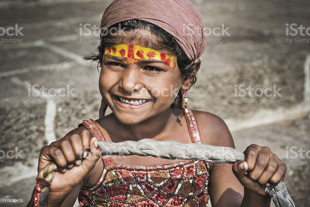 Indian girl artist royalty-free stock photo
