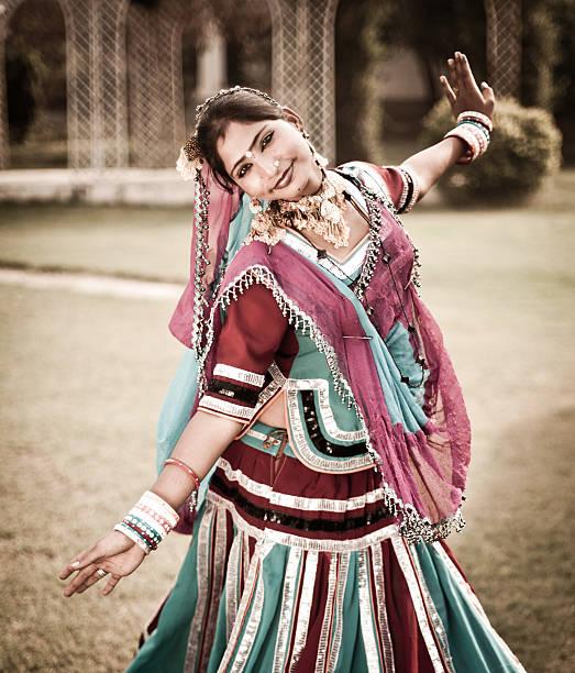 Indian Girl Dancing stock photo