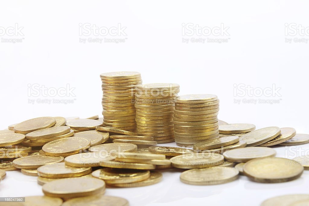 Indian Gold Coin stock photo