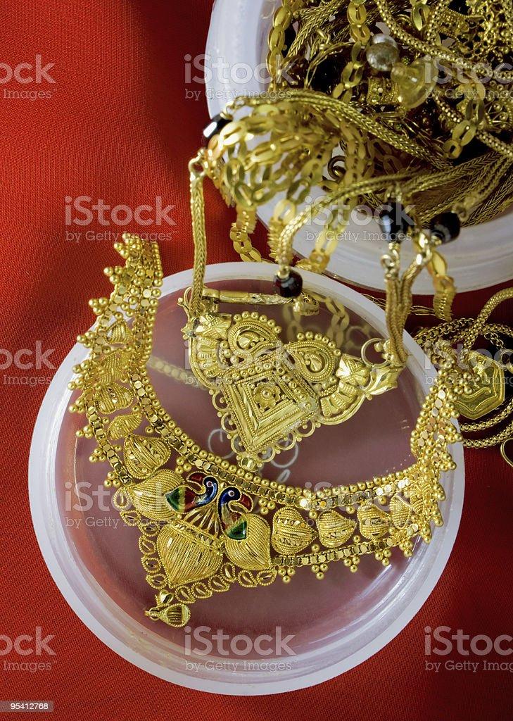 Indian Gold Schmuck Lizenzfreies stock-foto