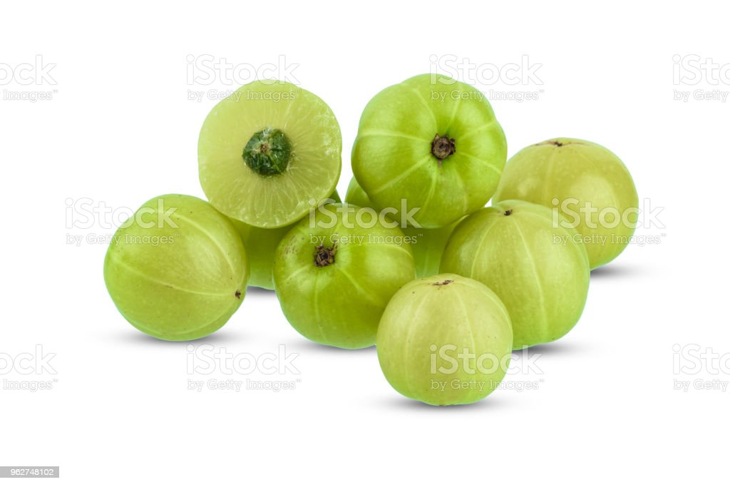 Indian gooseberry isolated on white background - Foto stock royalty-free di Alimentazione sana