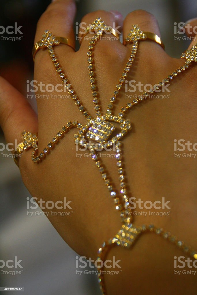 Indian Hand Jewelry stock photo