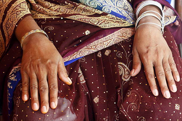 Indian Hands stock photo
