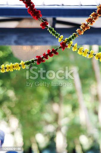 Hanging Flower Toran for Decoration at an Indian Hindu Wedding Cape Town South Africa