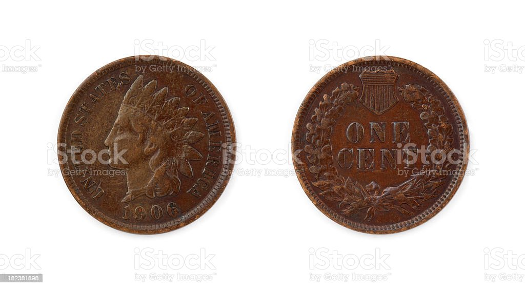 Indian Head Cent royalty-free stock photo