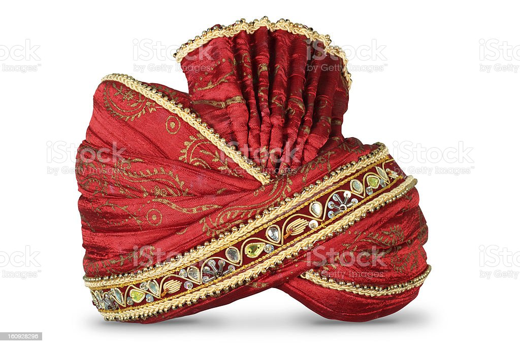 Indian Headgear used in Marriages or special ocassions stock photo