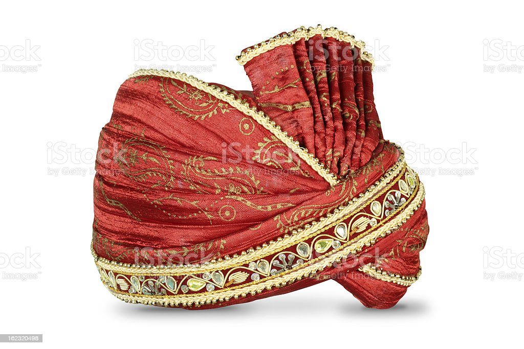 Indian Headgear used in Marriages stock photo