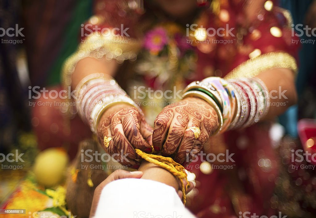 Indian Hindu Wedding Rituals Traditions close up stock photo