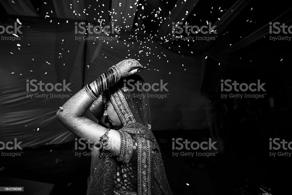 Indian Hindu Wedding : Vidai or Farewell of the bride stock photo