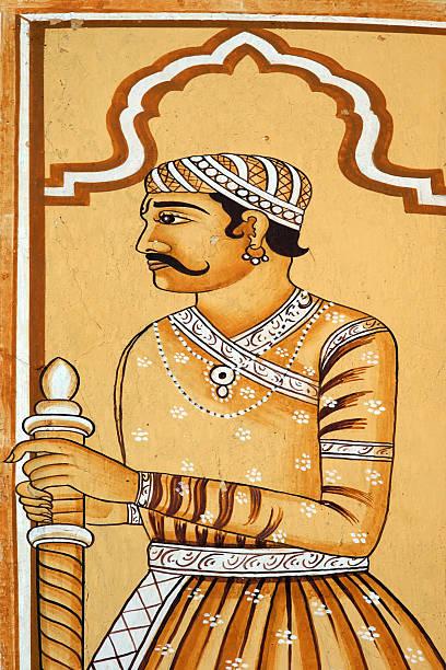 인도어 역사적이다 전사 페인팅 스톡 사진