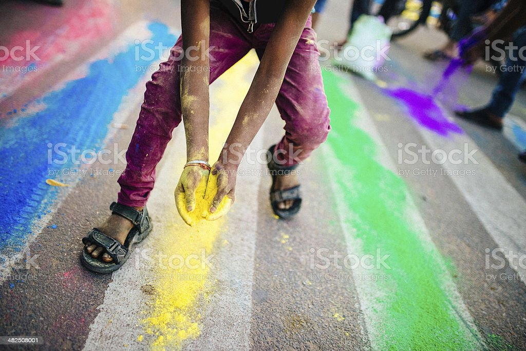 Indian Holi Celebrations royalty-free stock photo