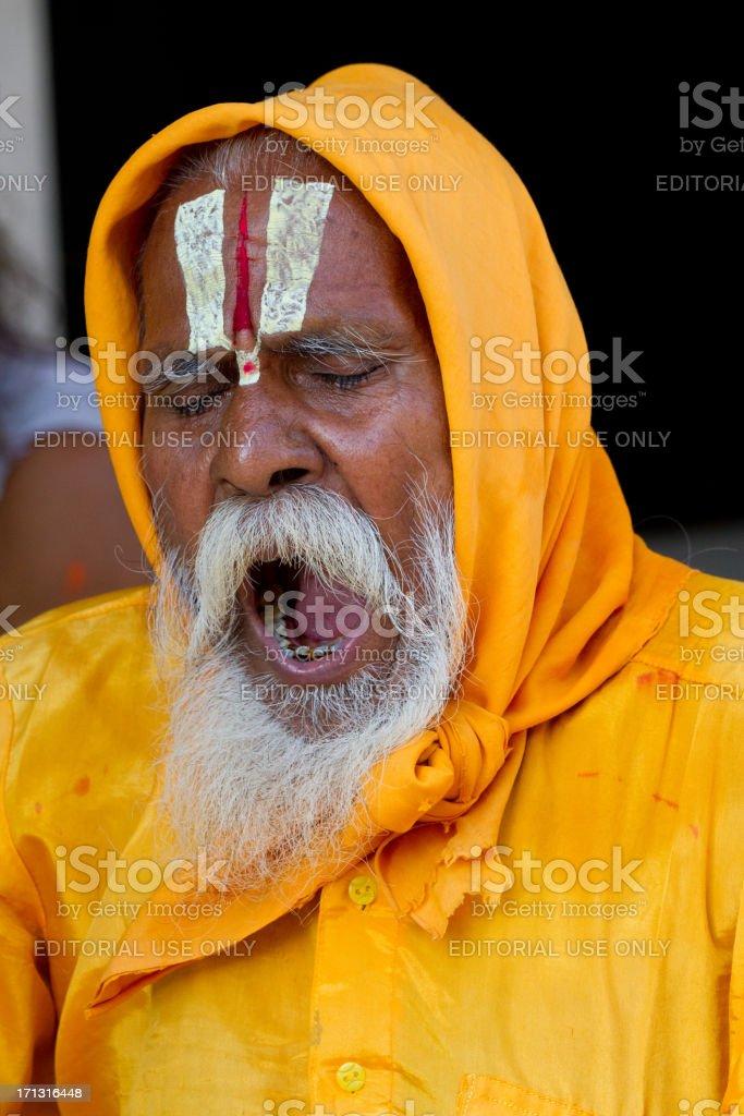 Indian Holy man (Sadhu), in New Delhi, India stock photo