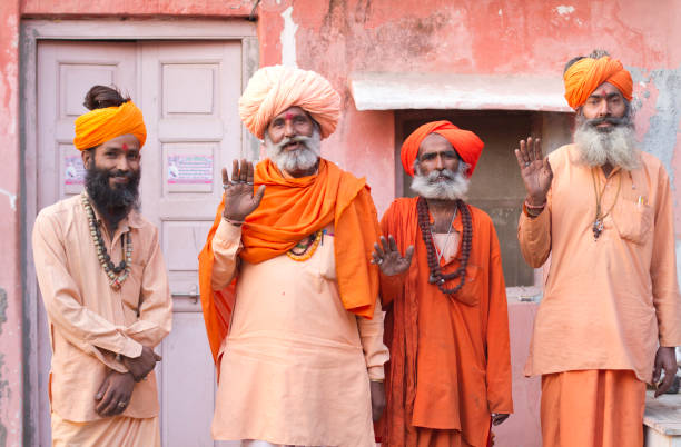 indian holy man or sadhu - hinduism stock photos and pictures
