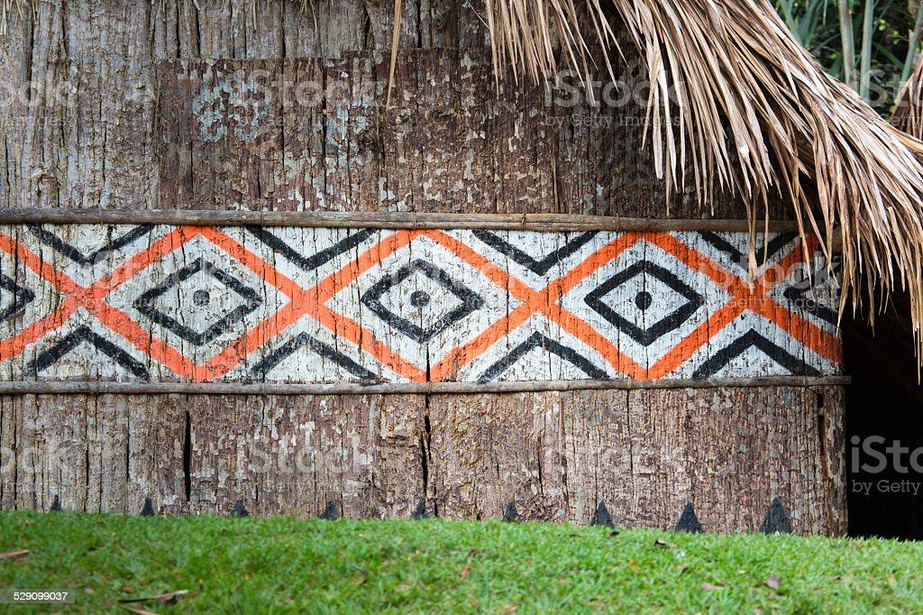 Indian Hut in Brasil. stock photo