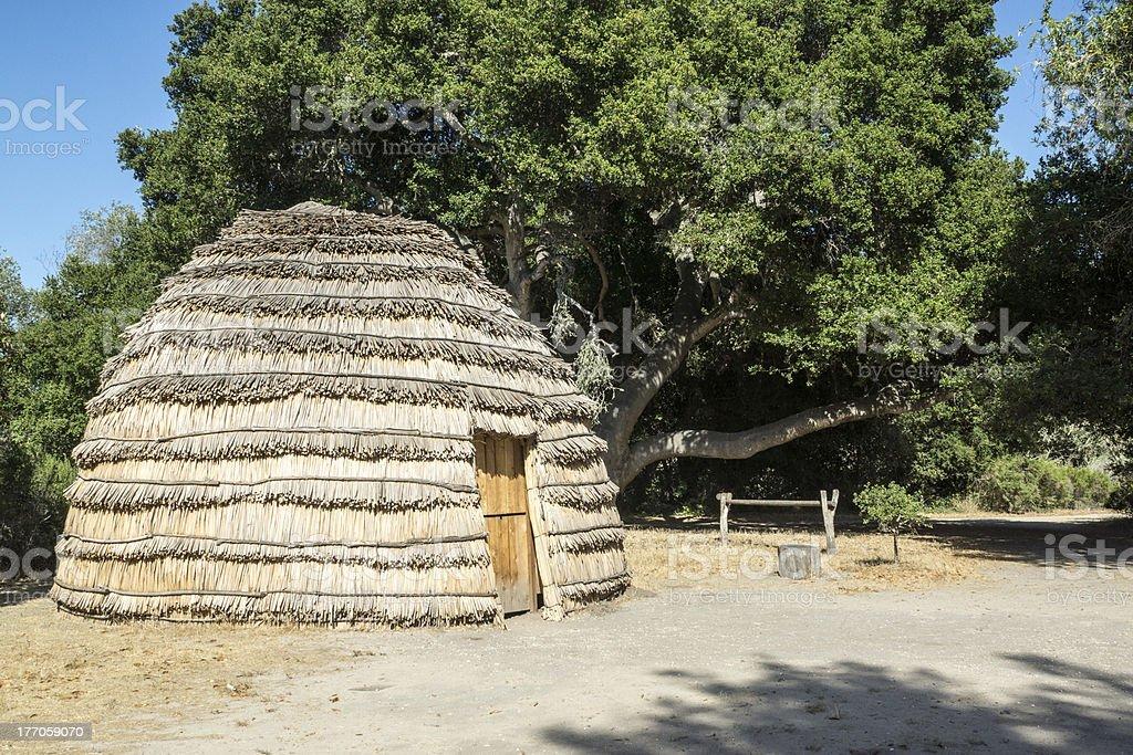 Indian Hut stock photo