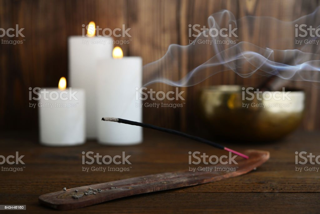 Indian incense stick stock photo