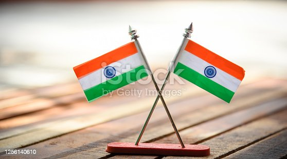 istock Indian Independence Day concept Indian Flag.15 August 1256140610
