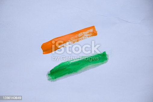 istock Indian Independence Day concept Indian Flag.15 August 1256140649