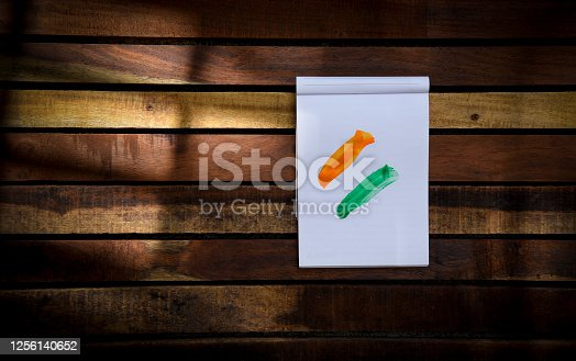 istock Indian Independence Day concept Indian Flag.15 August 1256140652