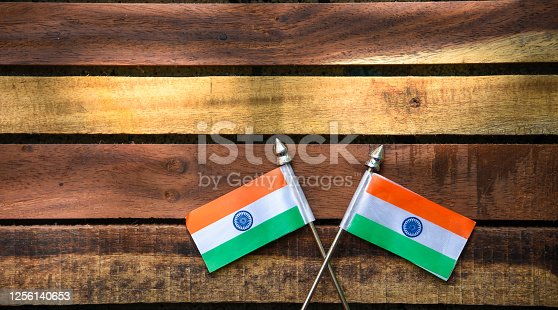 istock Indian Independence Day concept Indian Flag.15 August 1256140653