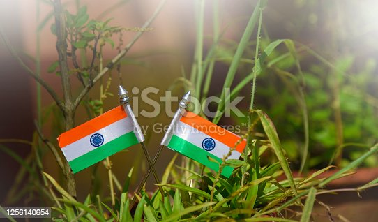 istock Indian Independence Day concept Indian Flag.15 August 1256140654