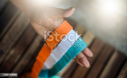 istock Indian Independence Day concept Indian Flag.15 August 1256140695