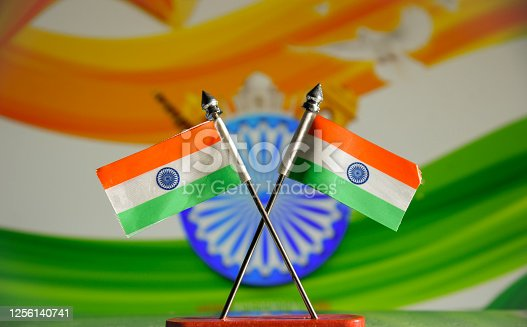 istock Indian Independence Day concept Indian Flag.15 August 1256140741