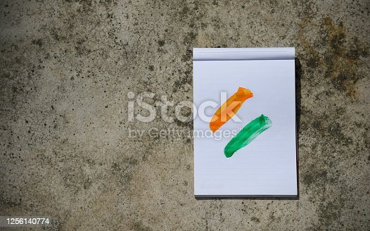 istock Indian Independence Day concept Indian Flag.15 August 1256140774