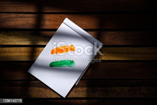 istock Indian Independence Day concept Indian Flag.15 August 1256140775