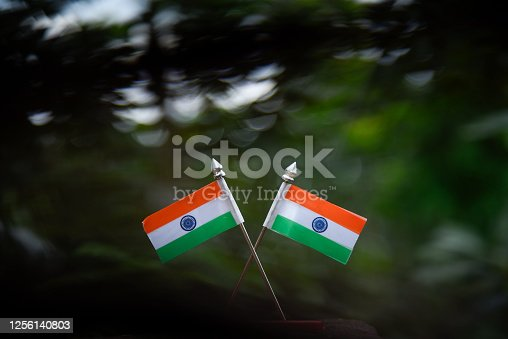 istock Indian Independence Day concept Indian Flag.15 August 1256140803