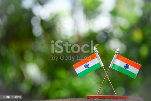 istock Indian Independence Day concept Indian Flag.15 August 1256140824