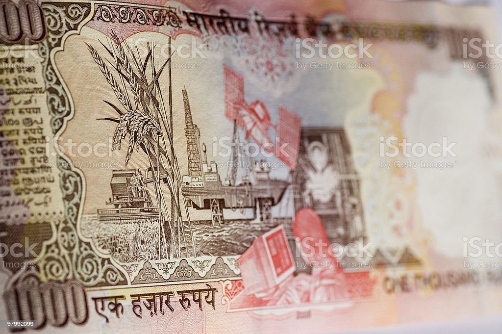 Indian industry banknote royalty-free stock photo