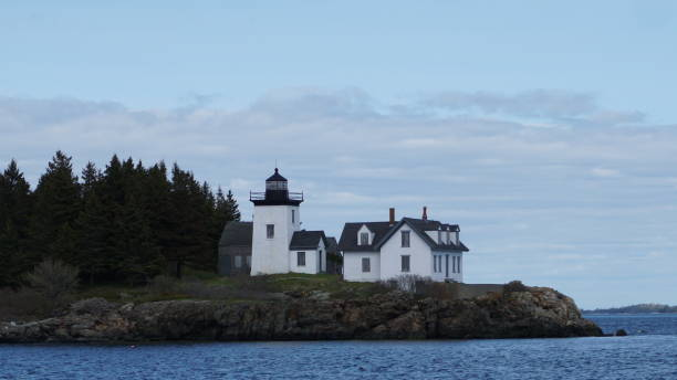 Indian Island Lighthouse stock photo